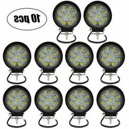 10x 4inch 27W Cube LED Work Lights Pods Flood Beam Offroad F