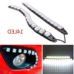 CHAMPLED® 14LED 2 Strips New Super Flexible LED DRL Daytime