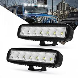 18W Led Light Bar, Modern Car 4 inch Led Flood Beam Driving