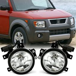 SCITOO For 2003-2006 Honda Element Clear Fog Light  Pair Set