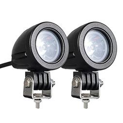 2PACK 12W LED Spot POD RACE LIGHTS Off Road Motorcycle Dirt