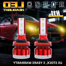 4-Side 3000K H11 H8 H9 Car LED Headlight Bulb Low Beam Yello