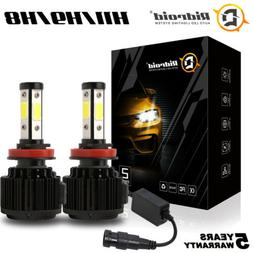 4 Side H11 Fog Light H8 H9 LED Headlight High Low Beam Bulbs