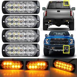 12LED Amber Fog light Warning Emergency Hazard Beacon Dash S