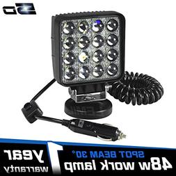 LEMIL 48W 5D Lens LED Work Light 12V Spot Light Driving Fog