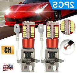 2PCS H3 LED Fog Driving DRL Light Bulbs Conversion Kit Super