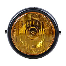 6.5 Inch Round 35W Amber Side Mounted Single Headlight Bobbe