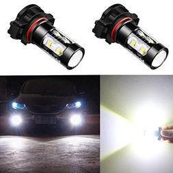 Alla Lighting 5201 5202 LED Fog Light Bulbs Super Bright 520