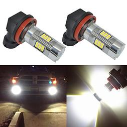 Alla Lighting 3200 Lumens Newest Version H11 LED Fog Lights