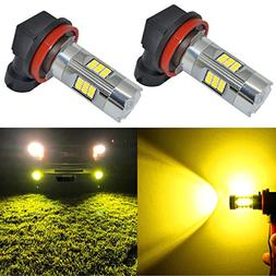 Alla Lighting 3200 Lumens Newest Version Yellow H11 LED Fog