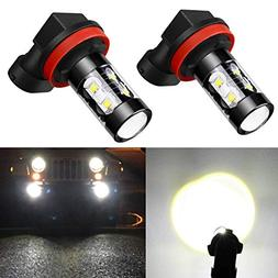 Alla Lighting H11 LED Fog Light Bulbs Super Bright H11 LED B