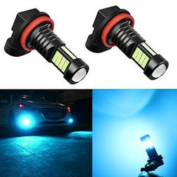 Alla Lighting Super Bright H11 LED Fog Lights 2000 Lumens Hi