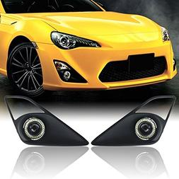 BSK Automotive Clear Halo Projector Fog Light with Black Bez