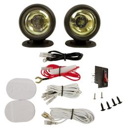 Blazer RE1088B Round Radiant Effects Driving Light Kit - Amb