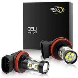 Cougar Motor H11 H8 CREE LED Fog Light/DRL Bulbs - 30W 5000K