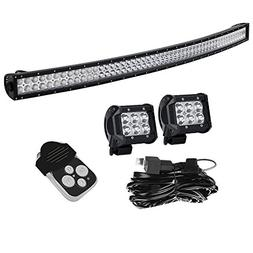 Curved 52 Inch 300W Offroad Led Light Bar Combo Beam + 4In P