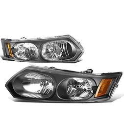 DNA Motoring HL-OH-084-BK-AM Pair of Headlight Assembly