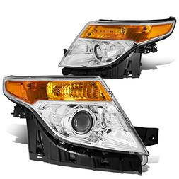 DNA Motoring HL-OH-FEXP11-CH-AM Projector Headlight Assembly