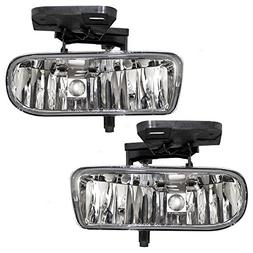 Driver and Passenger Fog Lights Lamps Replacement for GMC Pi