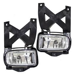 Driver and Passenger Fog Lights Lamps with Plastic Lens Repl