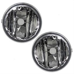 Driver and Passenger Fog Lights Round Lamps Replacement for