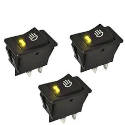 E Support™ Car Yellow LED Fog Toggle Switch Pack of 3