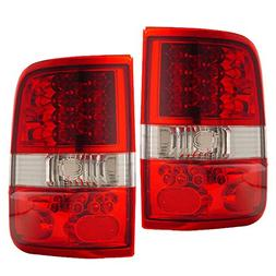 Fits 2004-2008 Ford F-150 LED Tail Lights Red Clear
