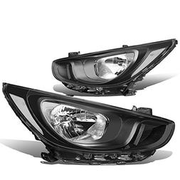 For Hyundai Accent RB 4th Gen Pair of Black Housing Clear Co