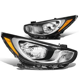 For Accent RB 4th Gen Pair of Chrome Housing Amber Corner He