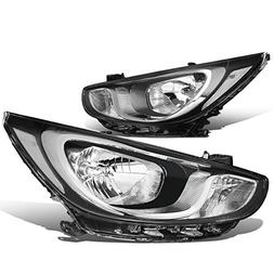 For Accent RB 4th Gen Pair of Chrome Housing Clear Corner He
