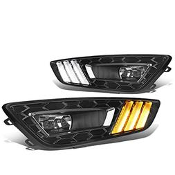 For Ford Focus Pair of LED DRL Fog Lights + Build-in Turn Si