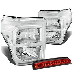 For Ford Super Duty 3rd Gen Pair of Chrome Housing Clear Cor