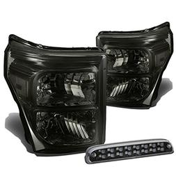 For Ford Super Duty 3rd Gen Pair of Smoke Lens Clear Corner