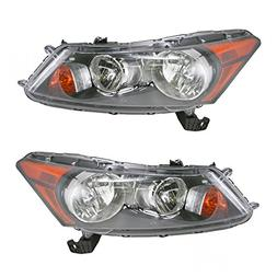 Front Headlights Headlamps Lights Lamps Pair Set for 08-12 H