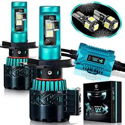 Glowteck LED Headlight Bulbs Conversion Kit - H4 CREE XHP50