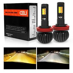 H8 H11 H9 LED Fog Lights Bulbs Dual Color foglamp All-in-One