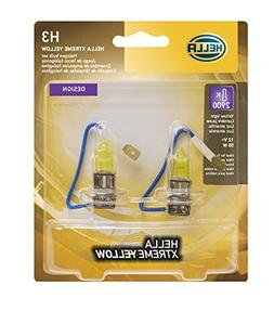HELLA H3 Yellow-55W YL Xtreme Bulbs, 12V, 2 Pack