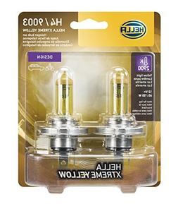 HELLA H4 Yellow-60/55W YL Xtreme Bulbs, 12V, 2 Pack