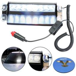 HQRP 8 LED Dash Strobe Fog Flash Emergency Warning White Lig