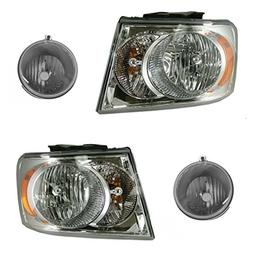 Headlight Fog Driving Light Lamp Kit LH RH Set of 4 for 07-0