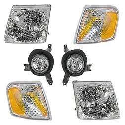 Headlight Fog Lamp Parking Light 6 Piece Kit Set for 01-05 F