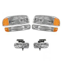 Headlight Headlamp Corner Parking Fog Driving Light Set Kit