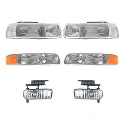 Headlight Parking Lamp Fog Light Kit Set of 6 for Chevy GMC