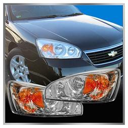 Headlights Headlamps Left & Right Pair Set for 04-08 Chevy M