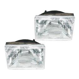Headlights Headlamps Left & Right Pair Set for 93-98 Jeep Gr
