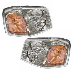 Headlights Headlamps Left & Right Pair Set for GMC Envoy