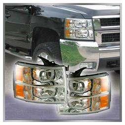 Headlights Lamps Left & Right Pair Set of 2 for 07-13 Silver