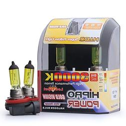 Hipro Power H11 3000K 55 Watt Golden Yellow Xenon HID Haloge