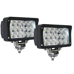 "JAHURD Led work lights for truck, 2 PCS 6"" inch Led light ba"