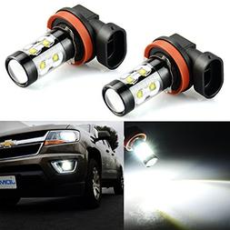 JDM ASTAR Extremely Bright Max 50W High Power H11 LED Bulbs